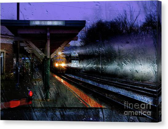 Rain And Rail Canvas Print