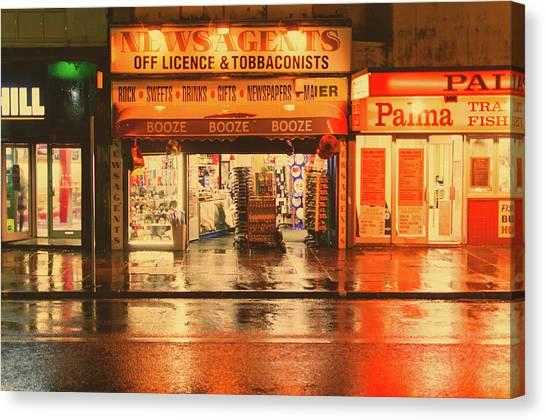 Rain Town Canvas Print