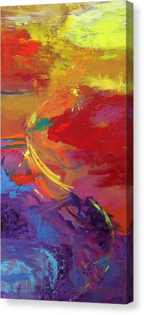 Rainbow Dance Canvas Print by Sabra Chili
