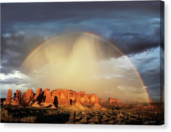 Rainbow Over Garden Of Eden Canvas Print