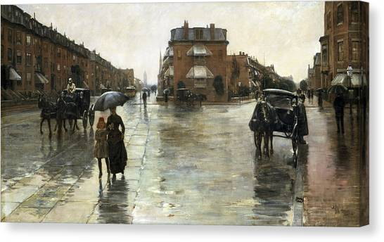 New England Revolution Canvas Print - Rainy Day, Boston by Childe Hassam
