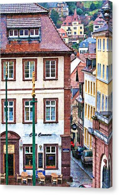 Rainy Day In Heidelberg Canvas Print