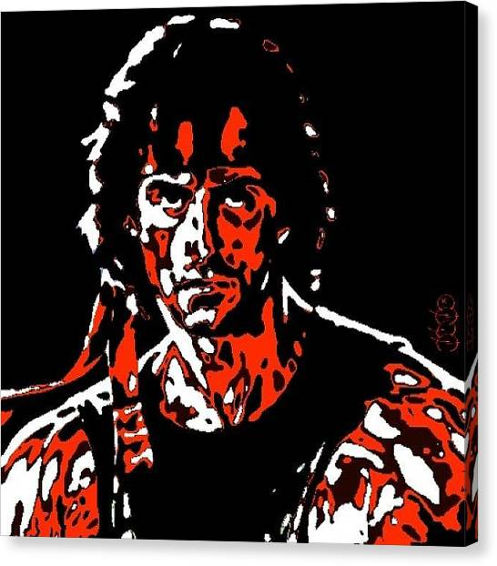 Sylvester Stallone Canvas Print - Rambo by Nuno Marques