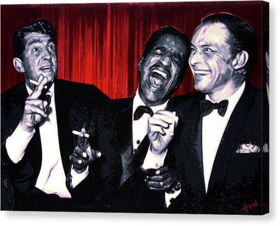 John F. Kennedy Canvas Print - Rat Pack by Hood alias Ludzska