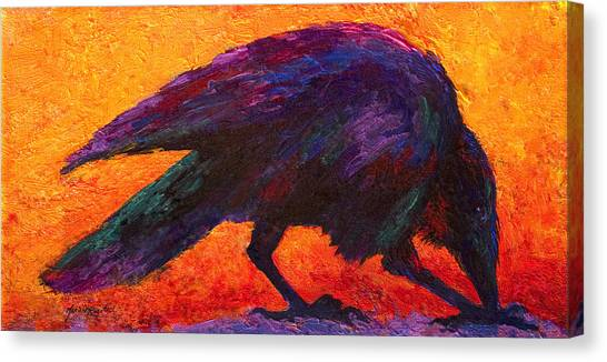 Ravens Canvas Print - Raven by Marion Rose