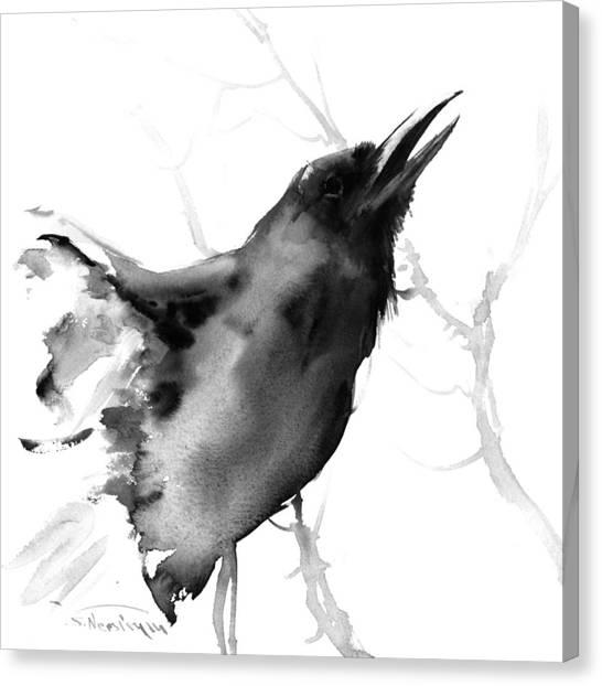Raven Canvas Print - Raven by Suren Nersisyan