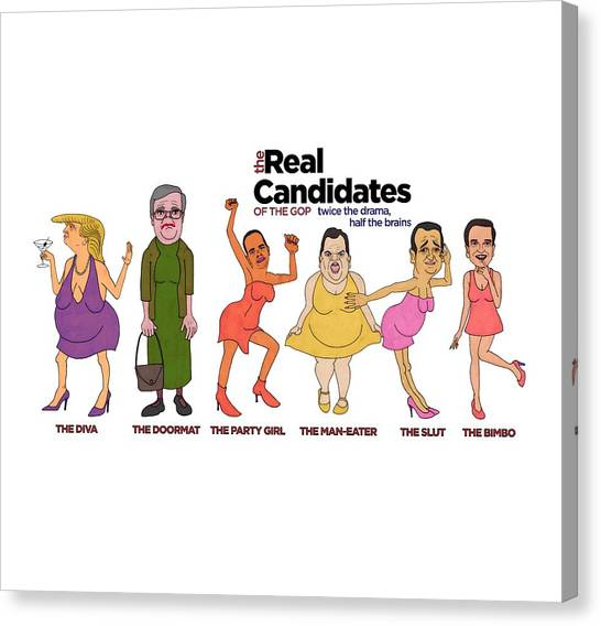 Ted Cruz Canvas Print - Real Candidates Of The Gop -clear Background Version by Sean Corcoran