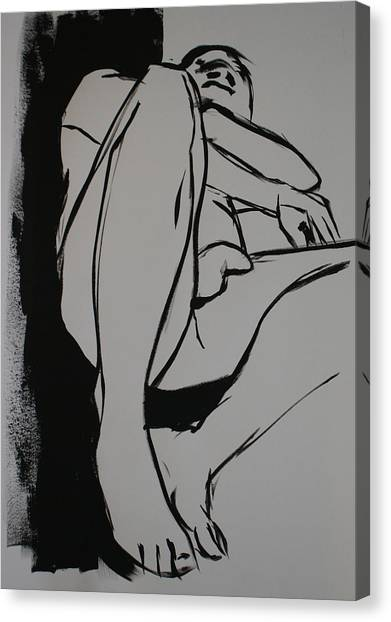Reclining Male Canvas Print by Joanne Claxton