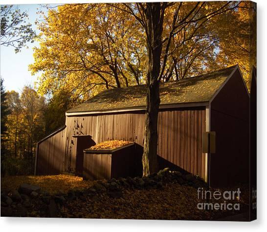 Connecticut Canvas Print - Red Barn At Dawn by Joshua Francia