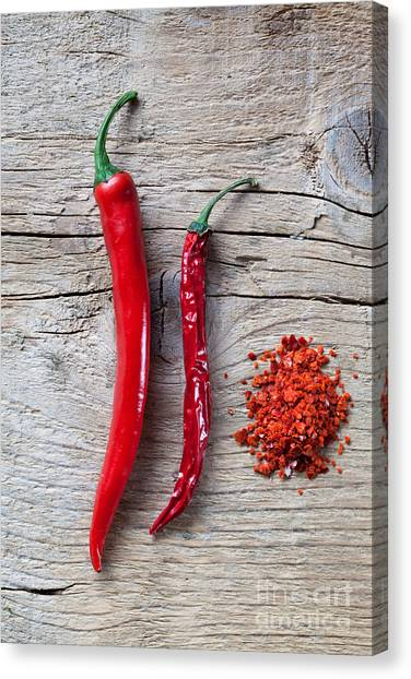 Salsa Canvas Print - Red Chili Pepper by Nailia Schwarz