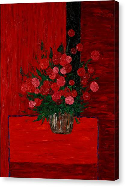 Red On Red On Red Canvas Print by Timothy Clayton