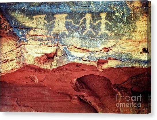 Red Rock Canyon Petroglyphs Canvas Print