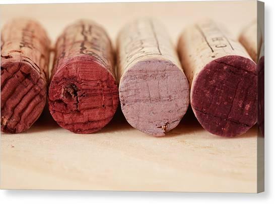Bodega Canvas Print - Red Wine Corks by Frank Tschakert