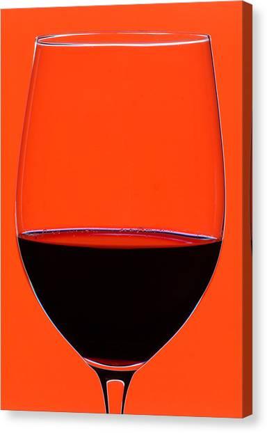 Bodega Canvas Print - Red Wine Glass by Frank Tschakert