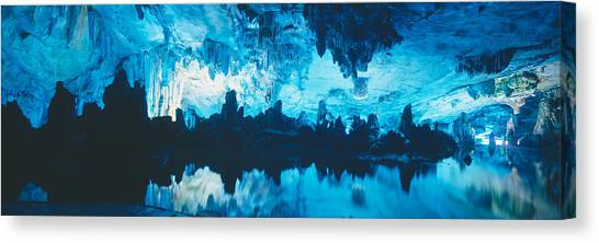 Limestone Caves Canvas Print - Reed Flute Cave In Guilin, Guangxi by Panoramic Images