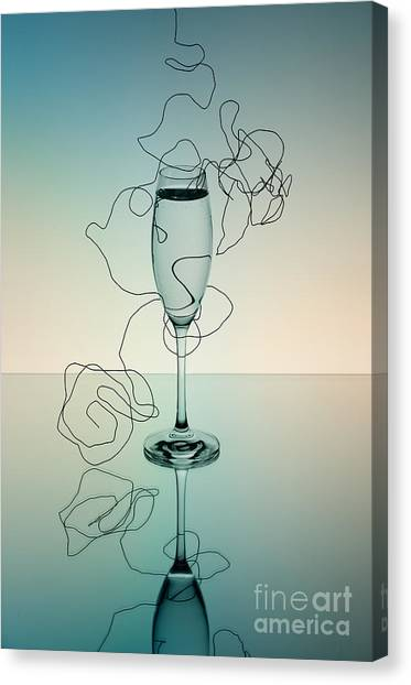 Champagne Canvas Print - Reflection by Nailia Schwarz
