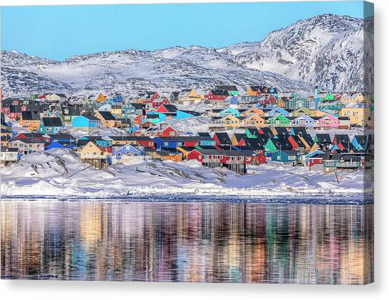 Greenland Canvas Print - reflections of Ilulissat - Greenland by Joana Kruse