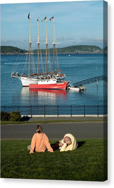 Relaxing On The Coast Canvas Print