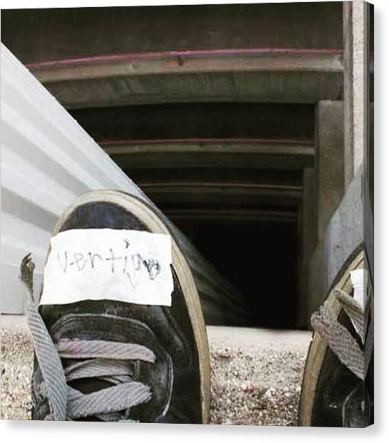 Vertigo Canvas Print - Remember, Don't Look Down. #vertigo by Nathan Schneider