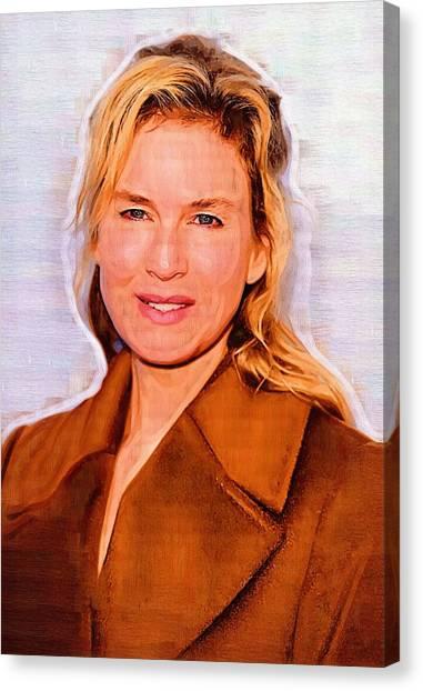 Jim Carrey Canvas Print - Renee Zellwegerprint by Elizabeth Simon
