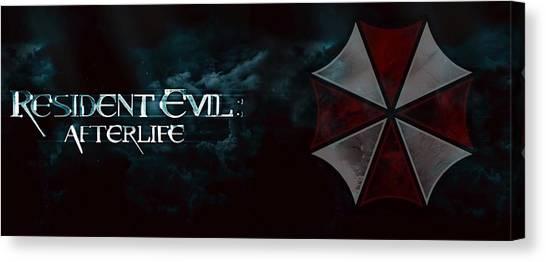 Resident Evil Canvas Print - Resident Evil Afterlife by Barbara Elvins