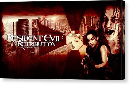 Resident Evil Canvas Print - Resident Evil Retribution by Dorothy Binder