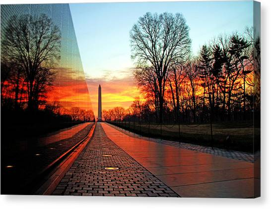 Washington Monument Canvas Print - Resolve by Mitch Cat
