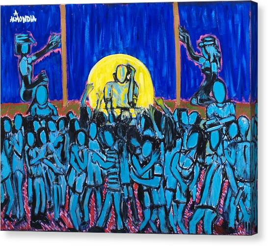Rhythm Blue Canvas Print by Albert Almondia
