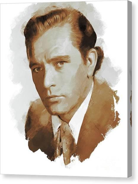 Burton Canvas Print - Richard Burton, Actor by John Springfield