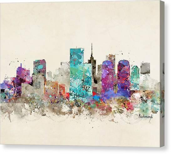Colourfull Canvas Print - Richmond Virginia by Bleu Bri