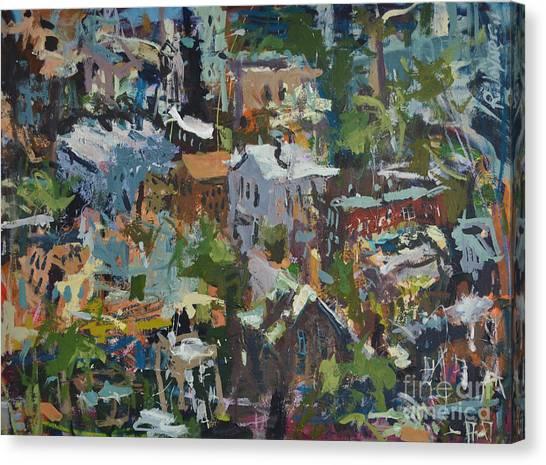Richmond Virginia Cityscape Painting Canvas Print