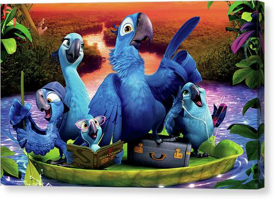 Peacocks Canvas Print - Rio 2 by Super Lovely