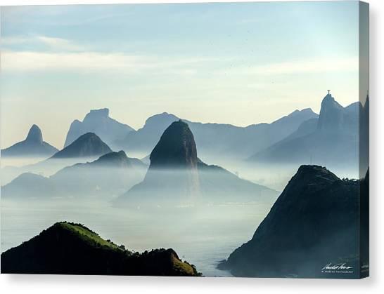 Rio De Janeiro Skyline Canvas Print - Rio Skyline by Mauricio Moreno
