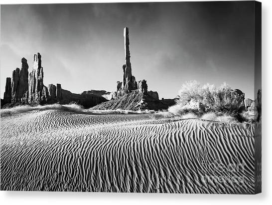Canvas Print featuring the photograph Rippled Dunes by Scott Kemper