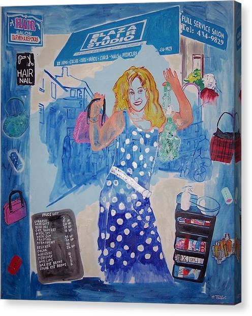Rita Of Plaza Hair Canvas Print by Nina Talbot