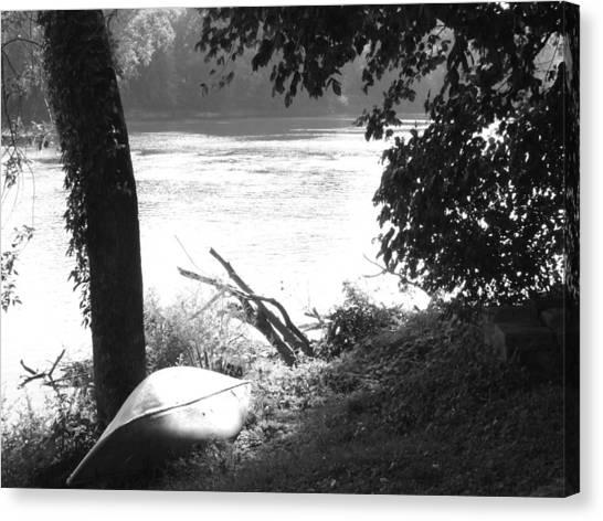 River Bank Canvas Print by Michael L Kimble
