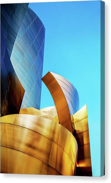 Canvas Print featuring the photograph River Of Gold by Az Jackson