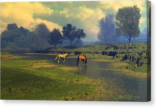 River Waltz Canvas Print
