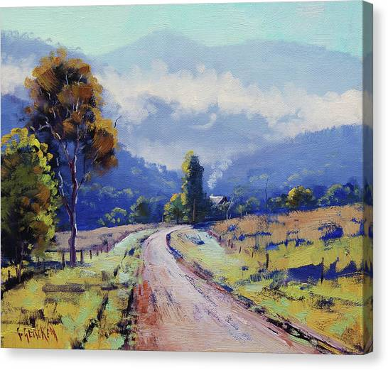 Beautiful Nature Canvas Print - Road To The Farm by Graham Gercken