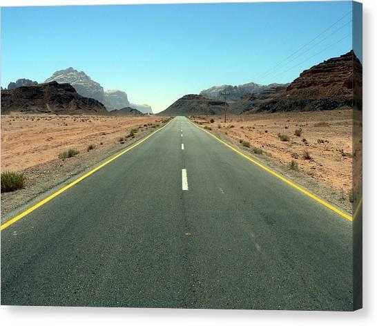 Road To Wadi Canvas Print by James Lukashenko