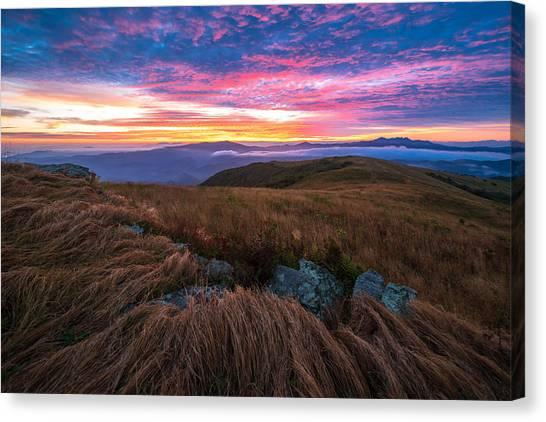 Roan Mountain Sunrise Canvas Print