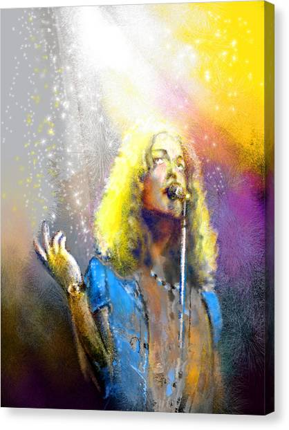 Robert Plant Canvas Print - Robert Plant 02 by Miki De Goodaboom