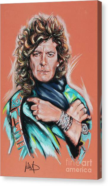 Robert Plant Canvas Print - Robert Plant by Melanie D