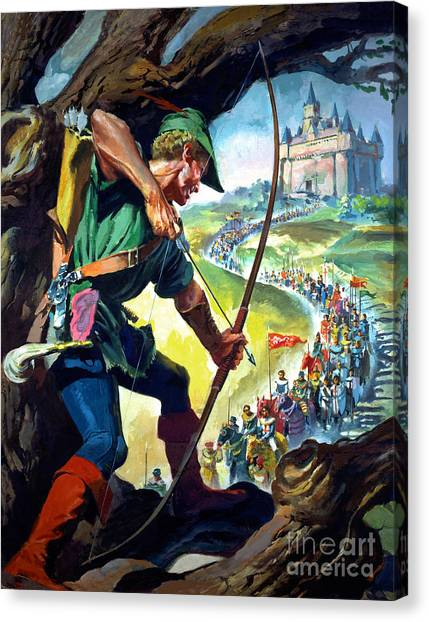 Sherwood Forest Canvas Print - Robin Hood by James Edwin McConnell