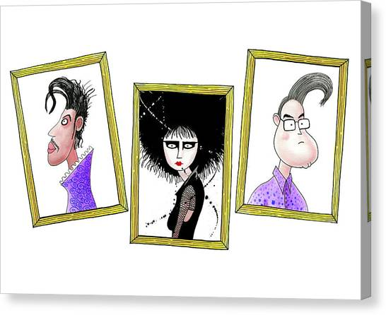 Prince Canvas Print - Rock Stars  by Andrew Hitchen