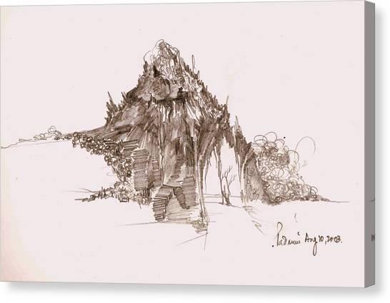 Rocks And Stones Canvas Print by Padamvir Singh