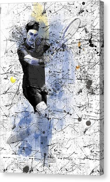 Roger Federer Canvas Print - Roger Federer by Marlene Watson