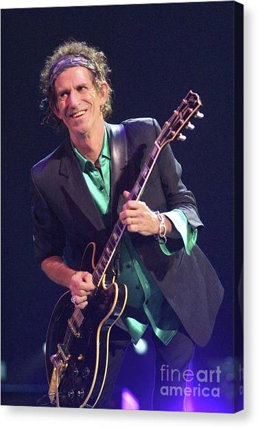 Keith Richards Canvas Print - Rolling Stones by Concert Photos
