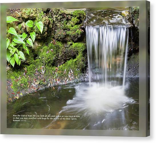 Canvas Print featuring the photograph Romans 15 13 by Dawn Currie