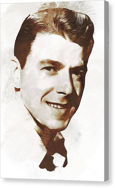 Ronald Reagan Canvas Print - Ronald Reagan, Actor, President by John Springfield